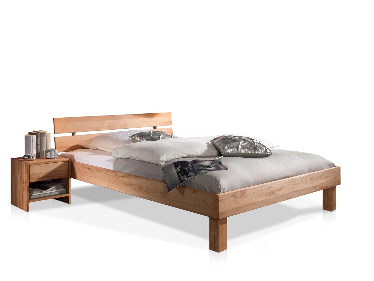 CARIA Doppelbett/Massivholzbett, 180 x 200, Kernbuche: Amazon.de ...