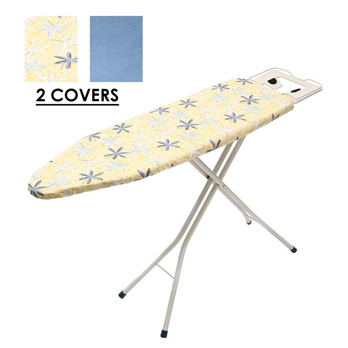 KINGSO 43''Lx13''Wx 32''H 4-Leg Tabletop Ironing Board with Iron Rest Iron Cover