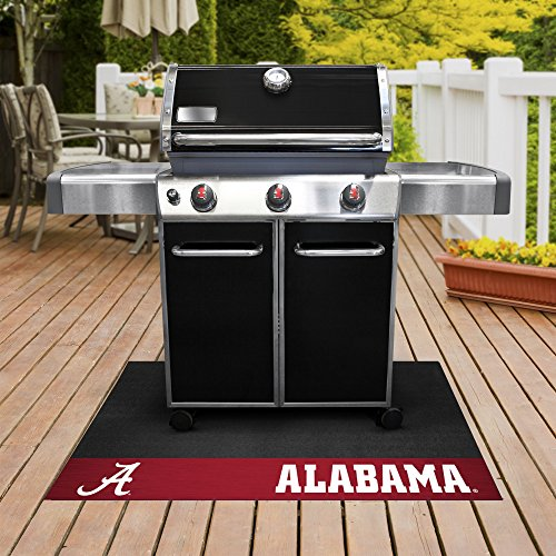 University Grill Mat - FANMATS NCAA University of Alabama Crimson Tide Vinyl Grill Mat