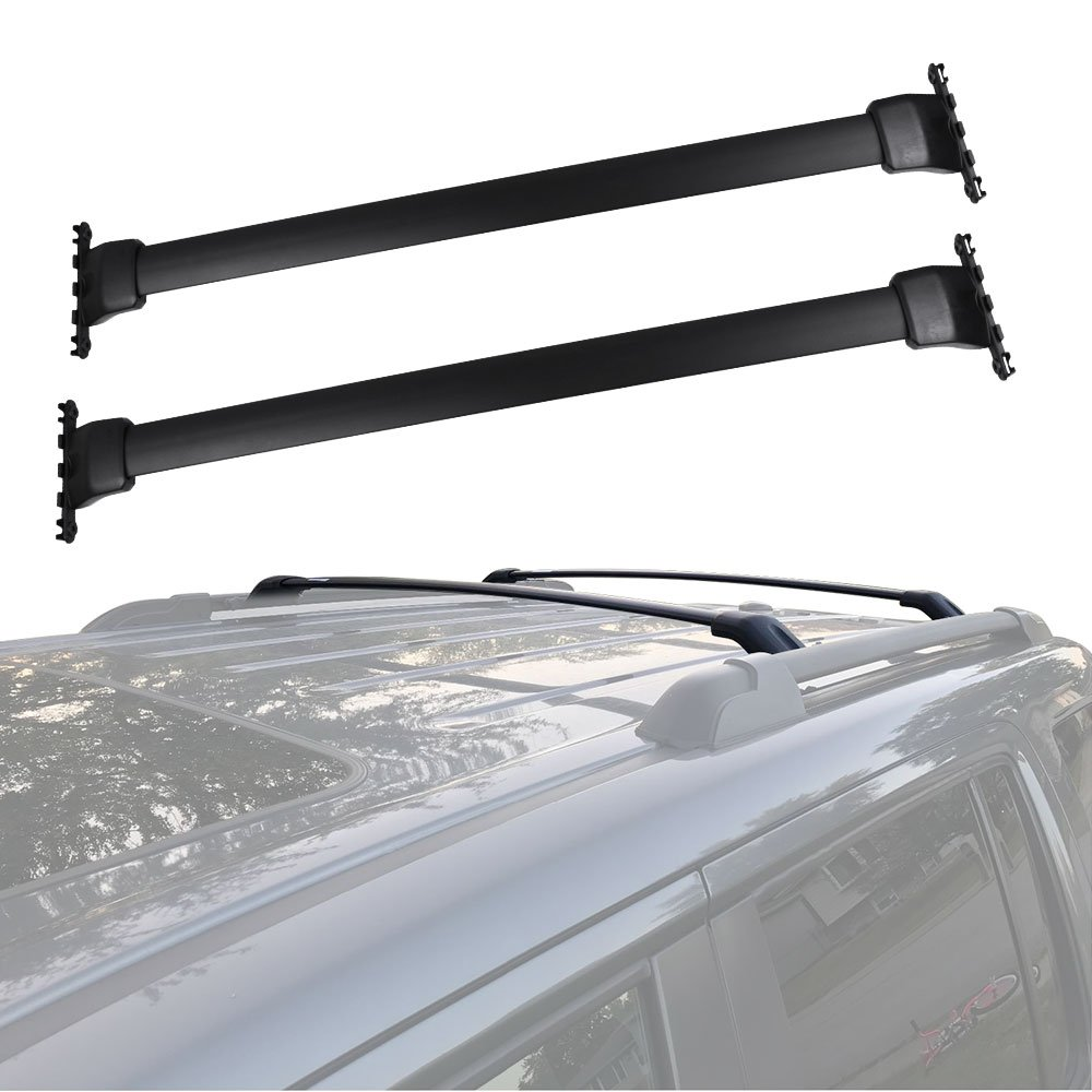 YITAMOTOR 2 Pcs Pack of Aluminum Roof Rack Side Rail Luggage Cross Bar fit for 2009-2015 Honda Pilot