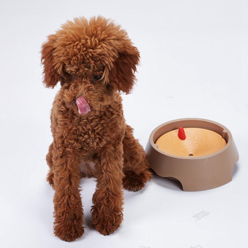 Rosa # Giallo, 20 * 6.5cm JEELINBORE Ciotola per Cani e Gatti Galleggiante Acqua e Cibo 2 in 1 a Prova di Capelli Antigoccia e Evitare Bagnati