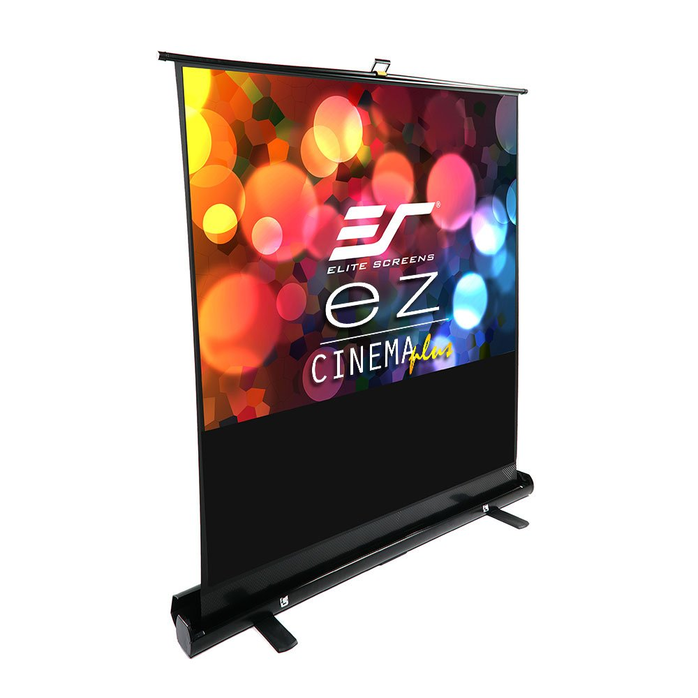 Elite Screens ezCinema Plus Series, 60-inch Diagonal 4:3, Floor Pull Up Portable Projection Screen, Model: F60XWV1