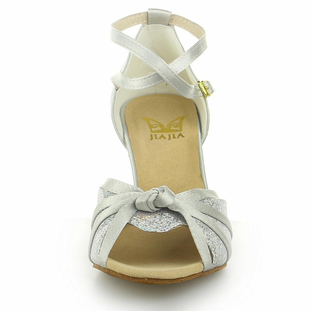 JIA JIA Y2059 Chaussures de danse latine satin: