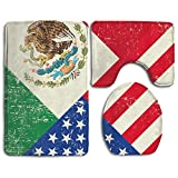 HOMESTORES Perfect Gifts - Mexico Mexican USA America Flag Thicken Skidproof Toilet Seat U Shaped Cover Bath Mat Lid Cover