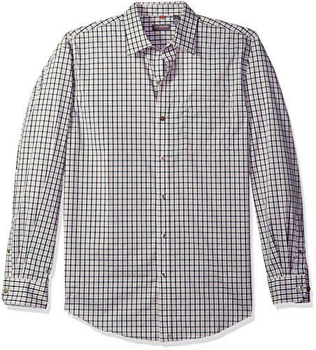 Van Heusen Men's Traveler Stretch Long Sleeve Button Down Black/Khaki/Grey Shirt, ()
