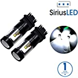 SIRIUSLED 30W 3157 3157A 3057 3155 3457 4157 Dual Brightness LED Bulbs with Projector for Turn Signals Reverse Backup Brake Tail Lights Xenon White