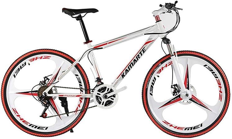 LIYONG 26 Pulgadas, 21/24/27 Velocidad, Adulto Bicicleta de montaña, Bicicletas de Velocidad Variable Estudiante, Regalo de cumpleaños (Color: 1, Tamaño: 21) HLSJ (Color : 1, Size : 21): Amazon.es: Hogar