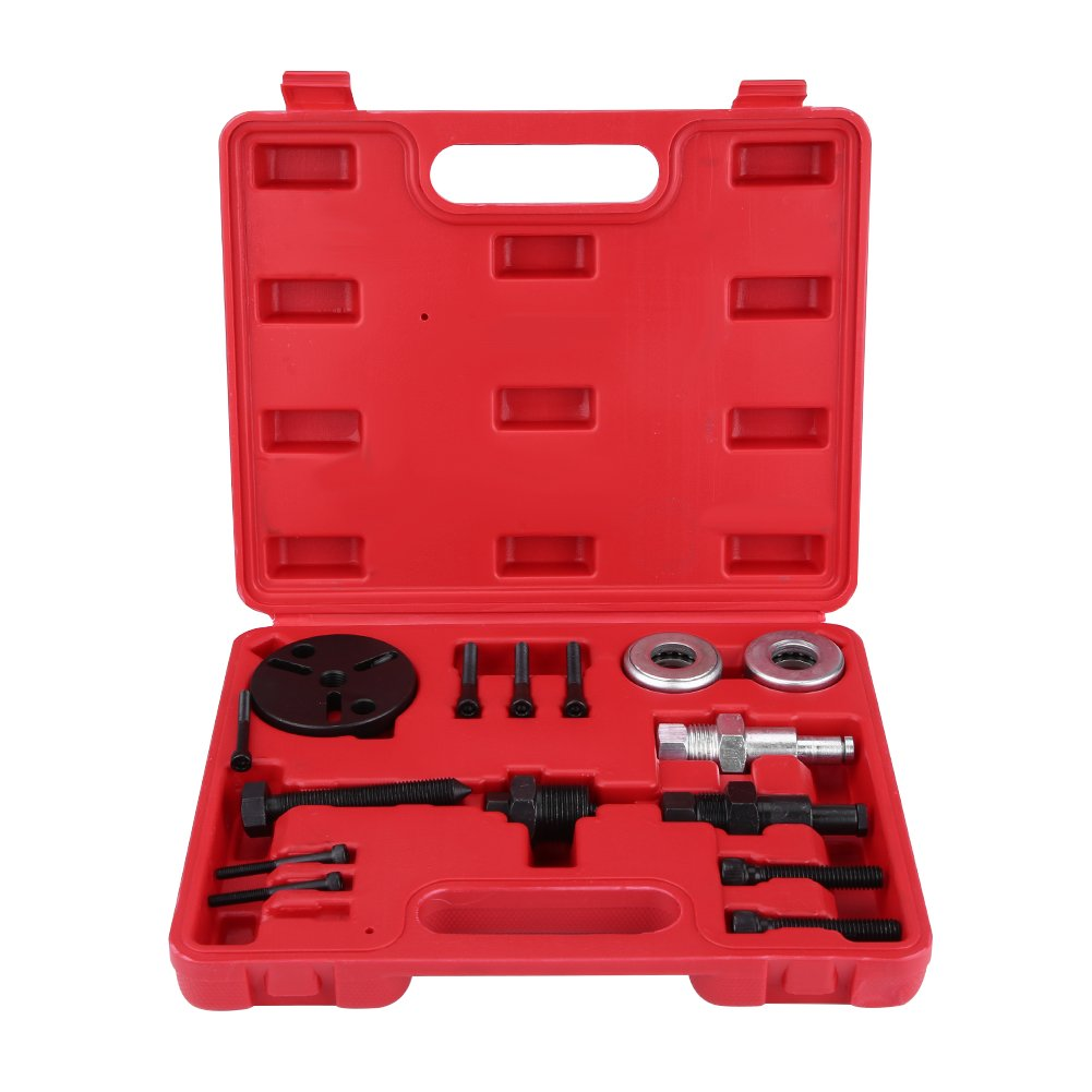 Compressor Clutch Puller, Automotive Car AC Air Conditioning Compressor Clutch Puller Remover Installer Tool Kit with Storage Case Zerone