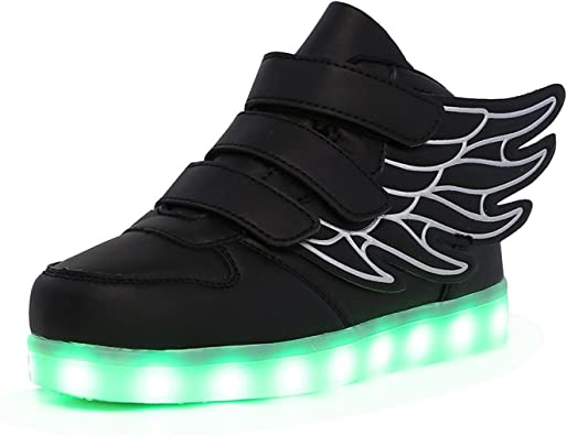 24XOmx55S99 Kids Boy and Girls High Top Led Sneakers Light Up Flashing Shoes for Halloween