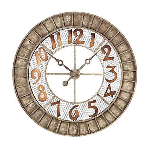Hamptons Collection Round Metal Outdoor Wall Clock. by Ben&Jonah
