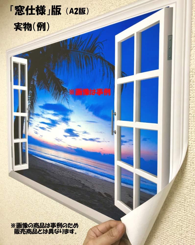 Amazon Co Jp 絵画風 壁紙ポスター はがせるシール式 窓の景色