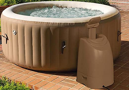Jacuzzi SPA hinchable redondo, color marrón, capacidad 795-PEGANE ...