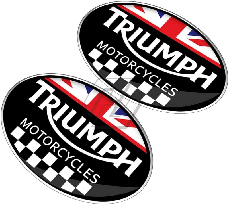 USPANDI R/éservoir Pad Sticker 3D Motorcycle Racing Decal Sticker for Triumph