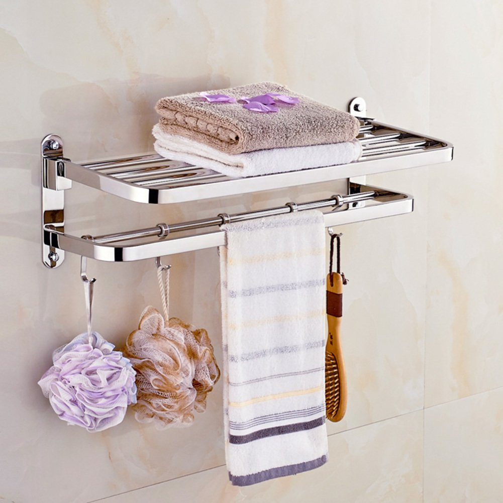 Stainless steel Towel rack/Thick folded towel rack activities/ Bathroom bathroom hook-B good
