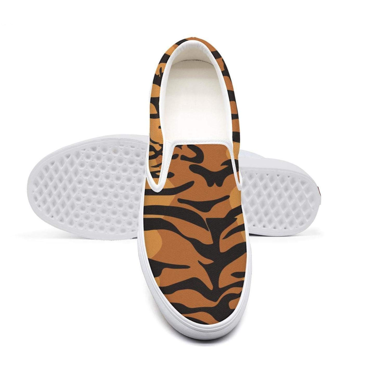 Orange Tiger Eye Head Art Casual Loafers Womens Pattern Skateboard Canvas Gym Shoes