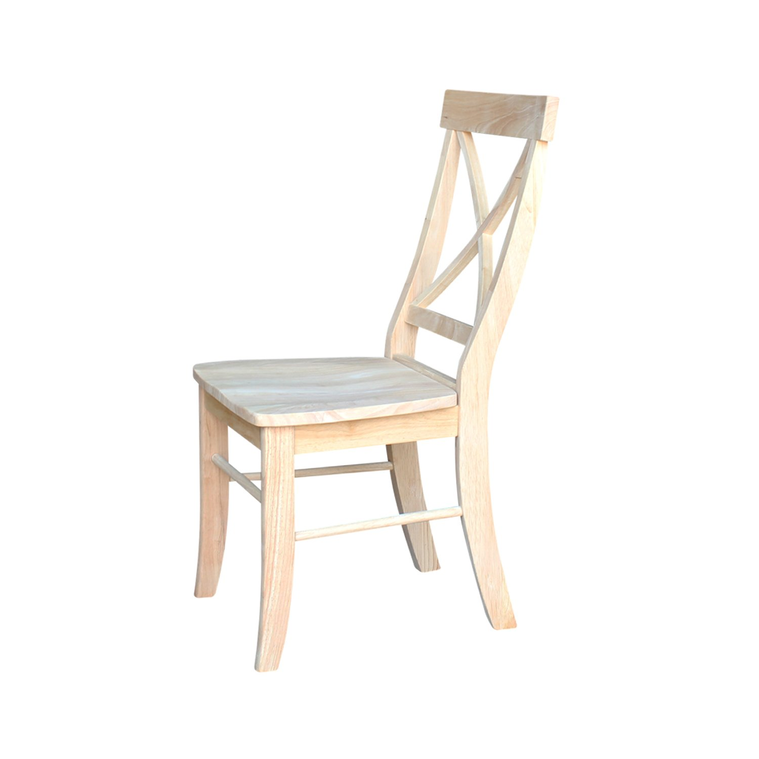 International Concepts C-613P Pair of X-Back Chairs, Unfinished