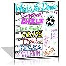 White Dry Erase Magnetic Weekly Calendar Planner Board - Fridge Meal Plan Calendar