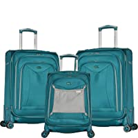 Deals on Olympia USA Luxe II Teal 3-Piece Expandable Spinner Set