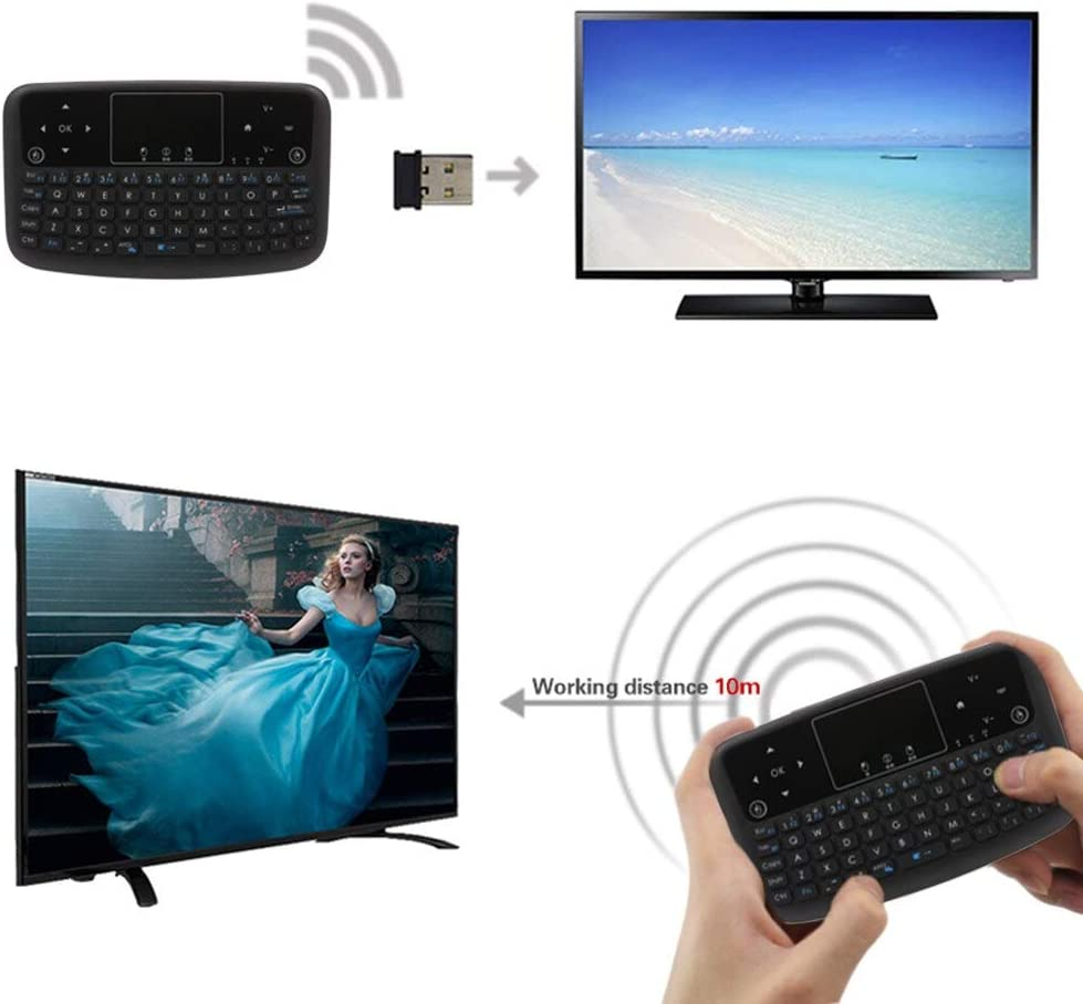 Calvas A36 Mini Wireless Keyboard 2.4GHz Air Mouse 10m Working range Plug and Play Touchpad Keyboard for Android TV BOX Smart TV PC Notebook