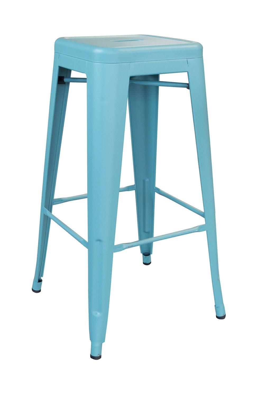 Terrific Amazon Com Buffalo Tools 30 In Metal Bar Stool In Teal Creativecarmelina Interior Chair Design Creativecarmelinacom
