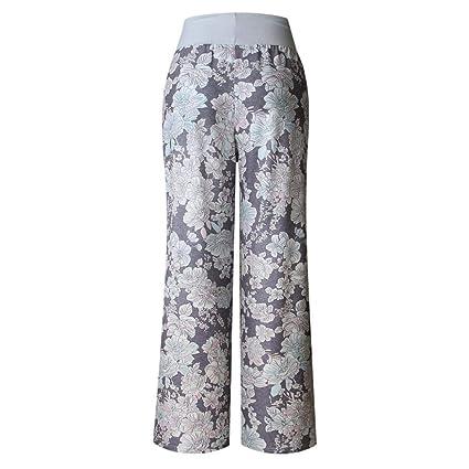 74983b91b1e8 UOFOCO Wide Leg Pants for Women Plus Size Pants Summer Loose Print Trousers  Ladies at Amazon Women s Clothing store