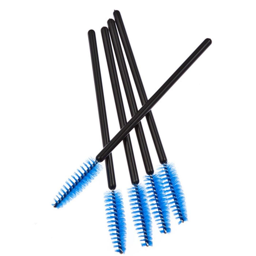Amazon.com: Hunputa 100PCS Disposable Mini Eyelash Eye Lash Makeup Brush Mascara Wands Applicator (Blue): Clothing