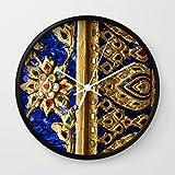 Society6 Thai Royal Walls Wall Clock Black Frame, White Hands