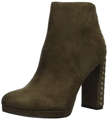 GUESS Women's Beverly Ankle Boot, Green, 10 Medium US