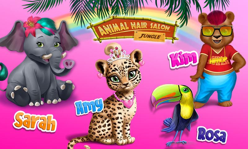 Jungle Animal Hair Salon - Juego de corte y peinado y moda