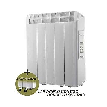farho Radiador Electrico Bajo Consumo XP + Juego de Ruedas ··· 550 Watios ·