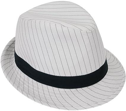 0adf7b0784e Amazon.com: Loftus International Loftus 1920S Gangster Mob Boss Costume Pinstripe  Fedora, White Black, One Size Novelty Item: Toys & Games