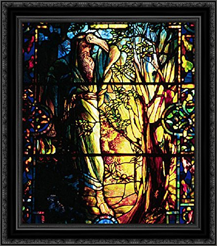 Moses and the Burning Bush 20x22 Black Ornate Wood Framed Canvas Art by Tiffany, Louis Comfort]()