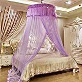 European princess dome suspended bed canopy mosquito net, Double Home Encrypt Thickened mosquito curtain-D Full-size