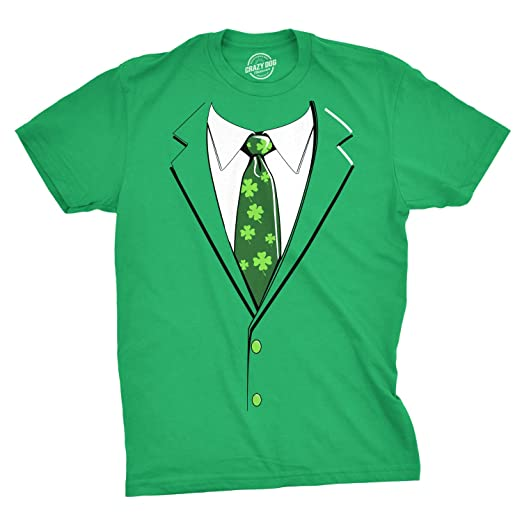5815d1d20 Green Irish Tuxedo T Shirt Funny Festive St Patricks Day Beer Drinking Tee  (Green)