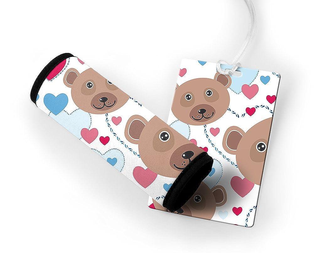 Teddy Bears Luggage Tag & Luggage Finder Wrap Set TAGLUGHOL046