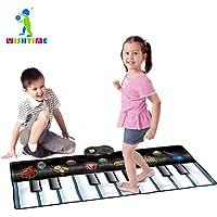 Tastiera Danza stuoia Strumento musicale - WISHTIME Kids Giant Electronic Piano Musica Party Games Playmat Strumento giocattolo educativo per i più piccoli