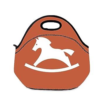 Borsa Cavallo A Dondolo.Borsa Per Il Pranzo Per Bambini A Forma Di Cavallo A