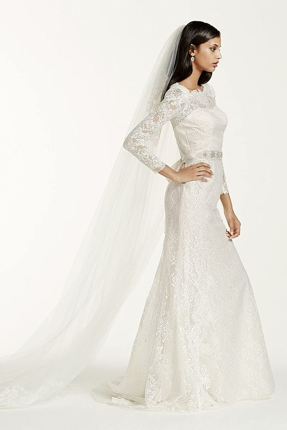 Sample: As-Is Long Sleeve Wedding Dress With Beaded Lace Style ...