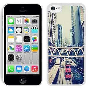 NEW Unique Custom Designed iPhone 5C Phone Case With London Architecture Buildings_White Phone Case