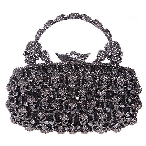 8c68d33ee7 Fawziya Skull Purses And Handbags For Women Bling Crystal Clutch Evening Bag-Black  - Buy Online in UAE.
