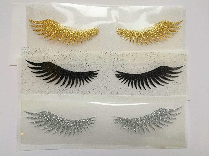 5df203eeda8 Image Unavailable. Image not available for. Color: eyelash iron on/eyelash  applique/glitter ...