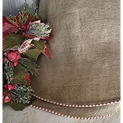 Burlap Christmas Tree Skirt by The Burlap Cottage® Approx. 58""
