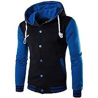 JiaMeng Hombres Chaqueta Primavera otoño e Invierno Algodón Abrigo Chaqueta Outwear Sweater Sudadera de Invierno Slim…