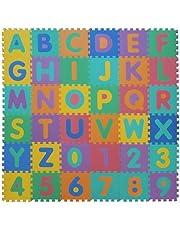 VeloVendo® - Tappeto Puzzle con Certificato CE e Certificazione TÜV in soffice Schiuma Eva | Tappeto da Gioco per Bambini | Tappetino Puzzle (Lettere + Numeri)