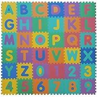 VeloVendo® - Tappeto Puzzle con Certificato CE e Certificazione TÜV in soffice Schiuma Eva | Tappeto da Gioco per Bambini | Tappetino Puzzle (Lettere + Numeri), 32 x 32 x 1 cm