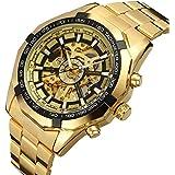 GuTe Men Skeleton Luxury Waterproof Automatic Movement Wrist Watch