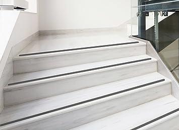 Kara.Grip 5 STK Tiras antideslizantes para escaleras aprox. 50 cm x 3 cm negro gepraegt: Amazon.es: Bricolaje y herramientas