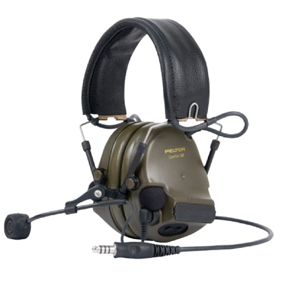 3M PELTOR ComTac XPI - Auriculares de diadema (28 dB, conector J11, micrófono dinámico, banda de cuello verde con cable, MT20H682FB-38): Amazon.es: Jardín