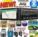 2007-2016 CHRYSLER JEEP DODGE Double Din DVD CD GPS Navigation Bluetooth Radio Stereo