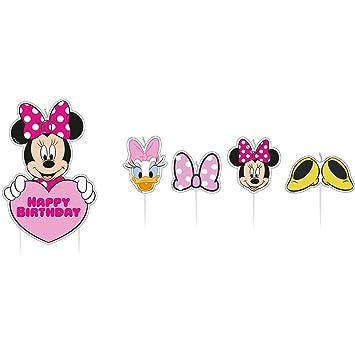amscan 17 Velas de cumpleaños Minnie Mouse: Amazon.es ...